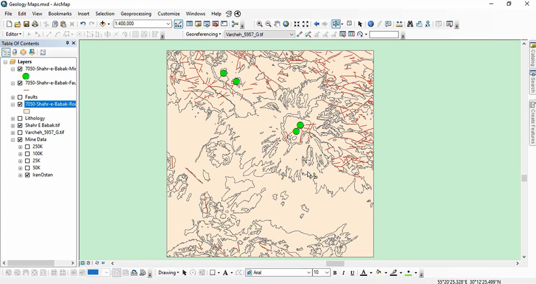 آموزش تولید نقشه های زمین شناسی