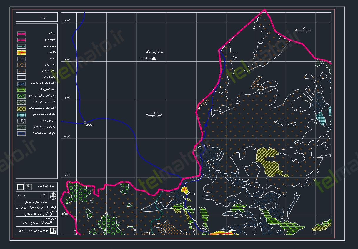 دانلود رایگان نقشه اتوکد طرح جامع شهر ماکو و چالدران با فرمت DWG + فایل آماده