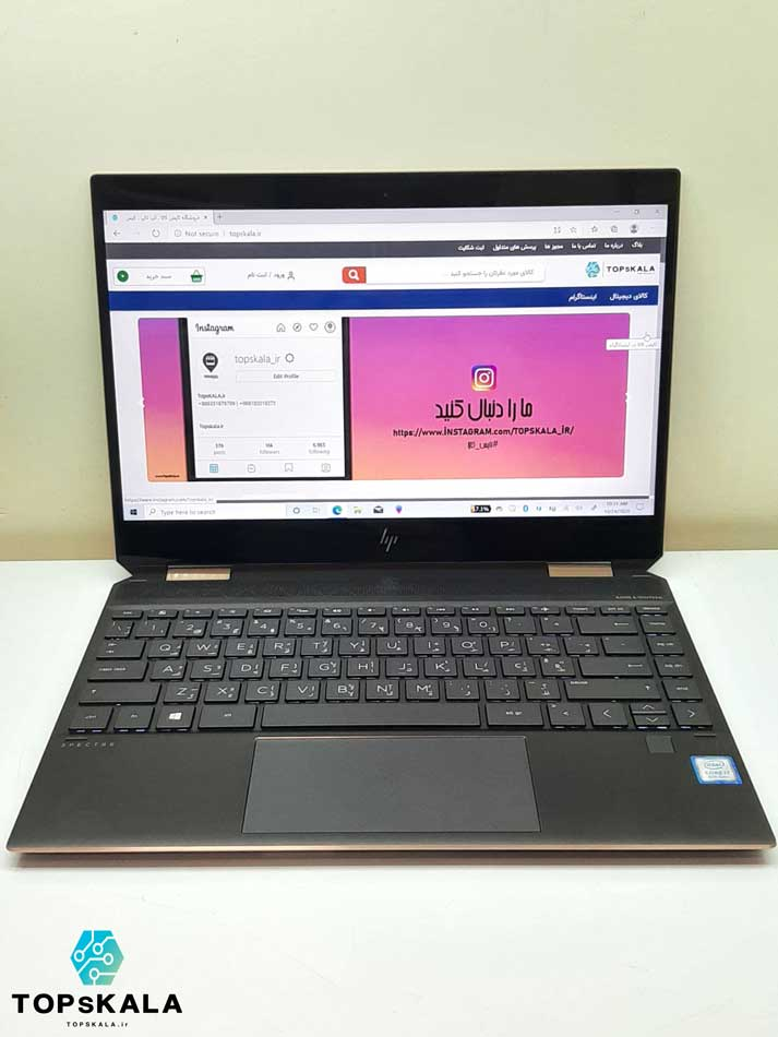 لپ تاپ استوک اچ پی مدل HP Spectre X360 convertible 13 با مشخصات intel Core i7 8565U - intel UHD 620 دارای مهلت تست و گارانتی رایگان / محصول HP