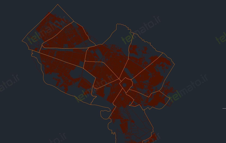 دانلود رایگان نقشه اتوکد شهر مشهد dwg همراه با طرح تفضیلی جدیدترین فایل نقشه اتوکد شهر مشهد با فرمت DWG