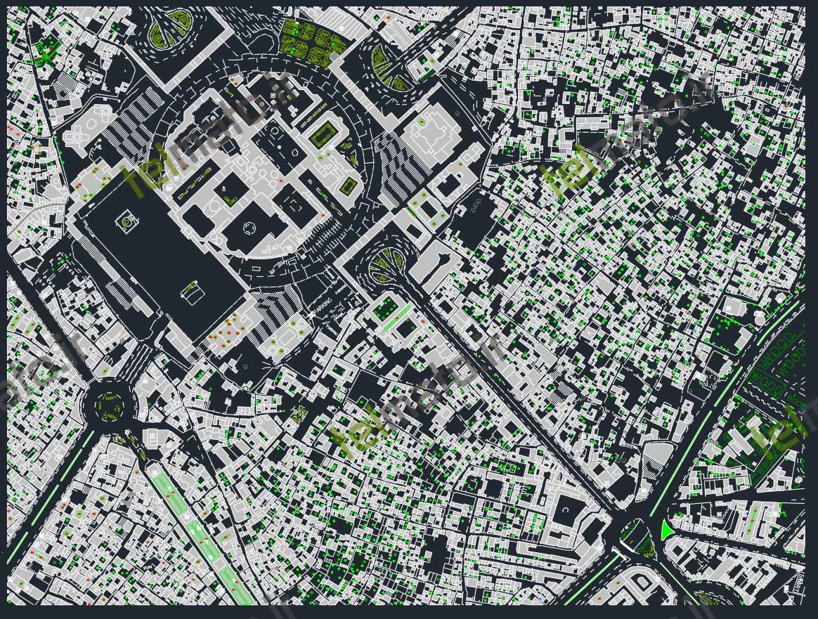 دانلود رایگان نقشه اتوکد شهر مشهد dwg همراه با طرح تفضیلی جدیدترین فایل نقشه اتوکد شهر مشهد با فرمت DWG کاداستر