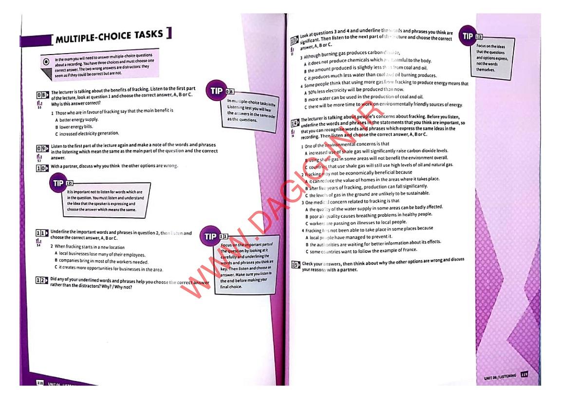 نمونه صفحه از کتاب Mindset for IELTS 2 مایندست فور آیلتس