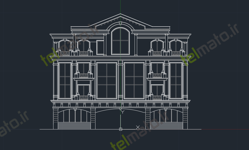 دانلود رایگان 40 فایل اتوکد نمای مدرن رومی با فرمت DWG و نقشه قابل ویرایش