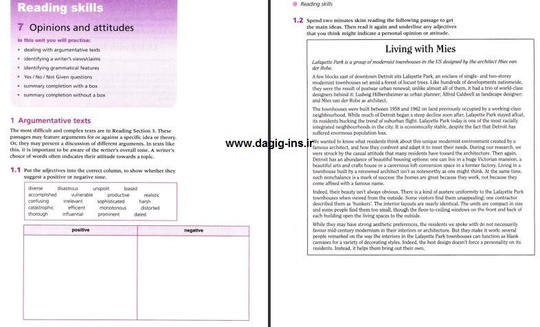 نمونه صفحه Official Cambridge Guide to IELTS راهنمای رسمی کمبریج برای آیلتس آفیشال
