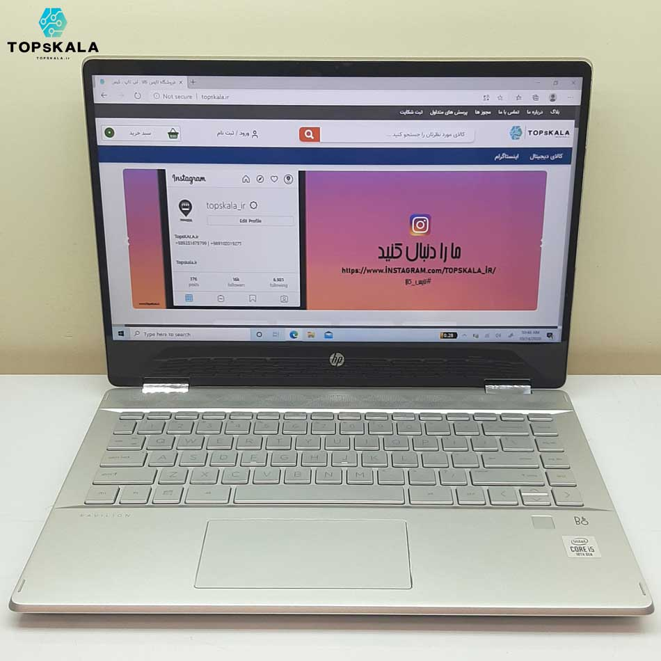 لپ تاپ استوک اچ پی مدل HP pavilion X360 14-dh1 با مشخصات intel Core i5 10210u - intel UHD 630 دارای مهلت تست و گارانتی رایگان / محصول HP