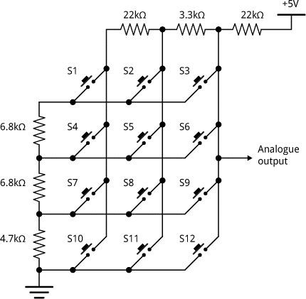 keypad resistor array