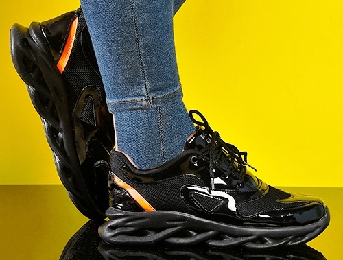 کفش کتونی اسپرت ورنی براق فشن دخترانه زنانه 2021