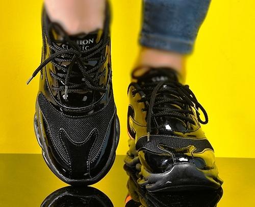 فروش کفش کتونی  ورنی براق فشن دخترانه زنانه