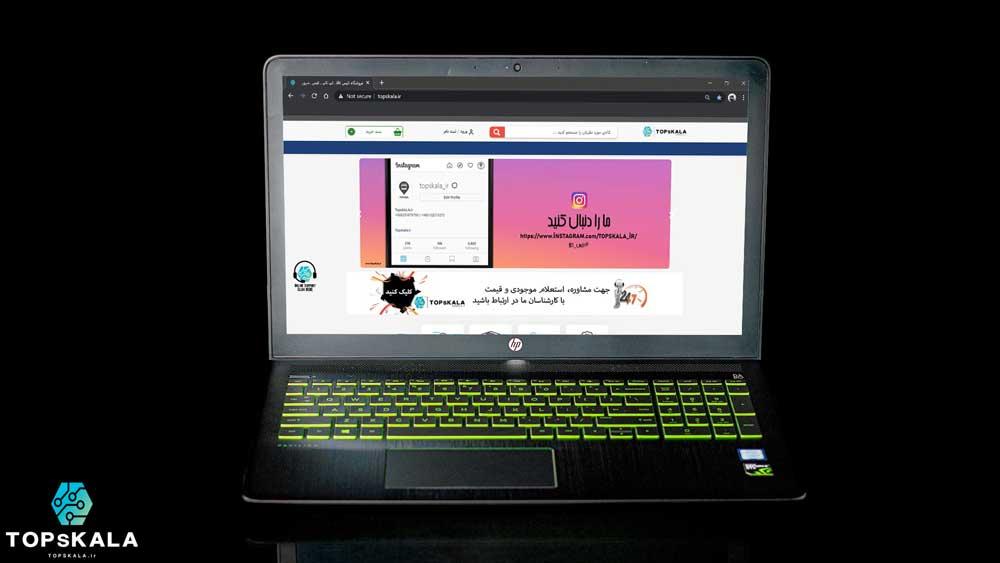 لپ تاپ استوک اچ پی مدل HP Pavilion Power laptop 15-cb0xx با مشخصات Intel Core i7 7700HQ - nVIDIA GTX 1050 دارای مهلت تست و گارانتی رایگان / محصول HP