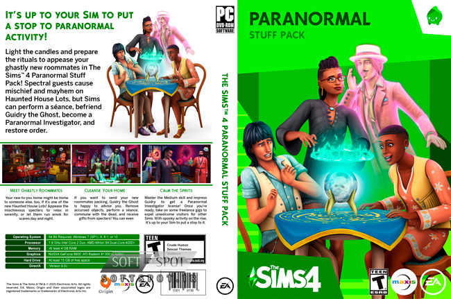 The Sims 4 Paranormal Stuff Pack Cover