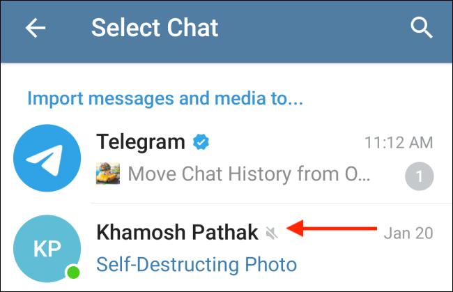 انتقال چت از واتساپ به تلگرام 7