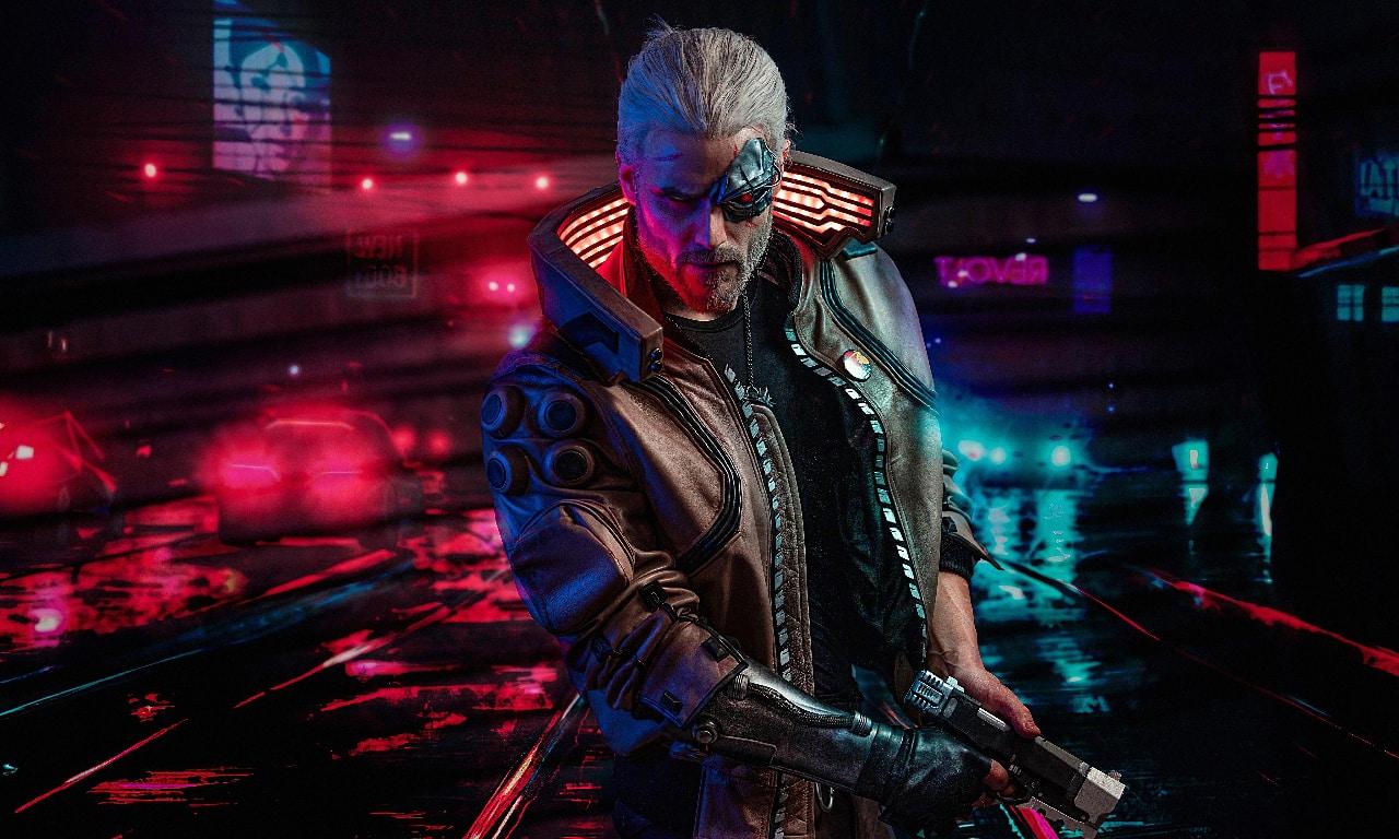 geralt of rivia in cyberpunk 2077