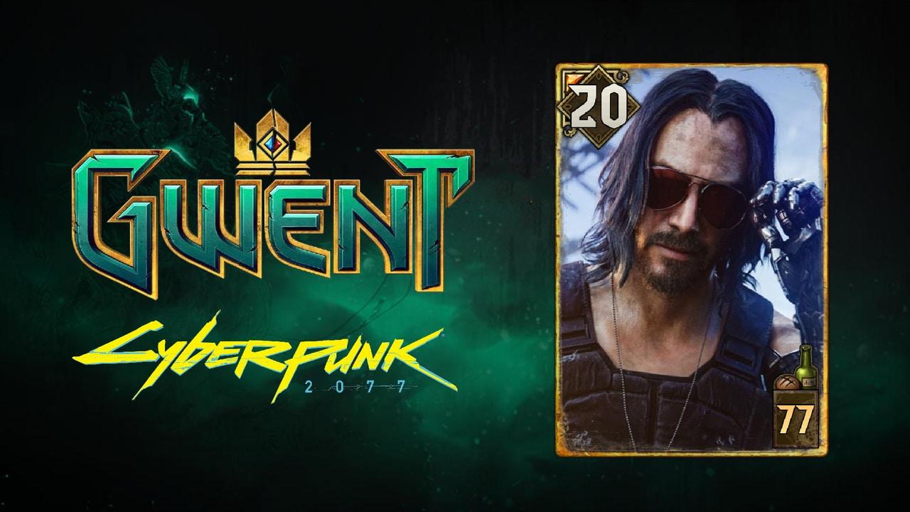 gwent card cyberpunk 2077 johnny silverhand