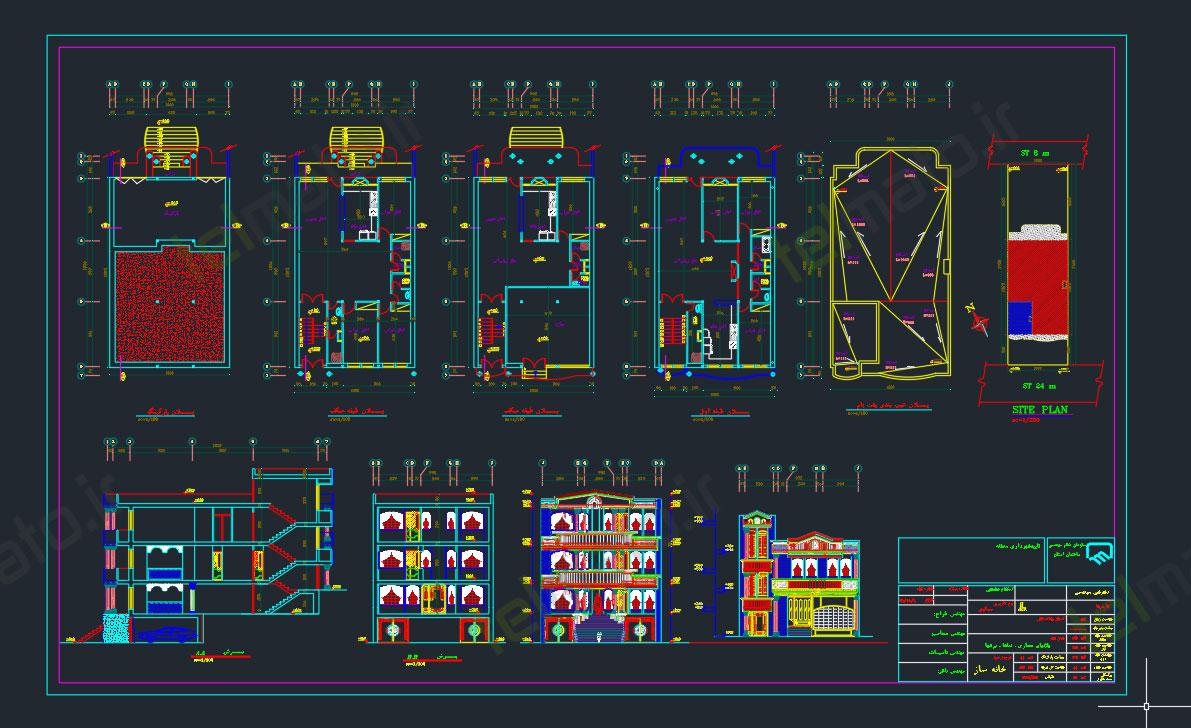دانلود رایگان 40 فایل اتوکد نمای مدرن رومی ساختمان با فرمت DWG و قابل ویرایش