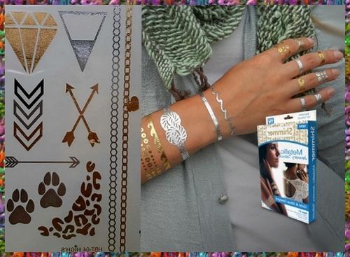 برچسب تاتو موقت زنانه طلایی جواهری