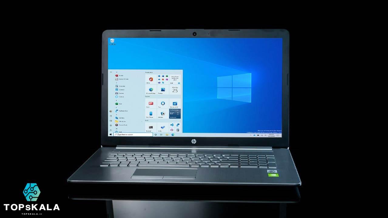 لپ تاپ آکبند اچ پی مدل HP laptop 17-by3 با مشخصات Intel Core i5 1035G1 - Nvidia GeForce MX330 دارای مهلت تست و گارانتی رایگان / محصول HP