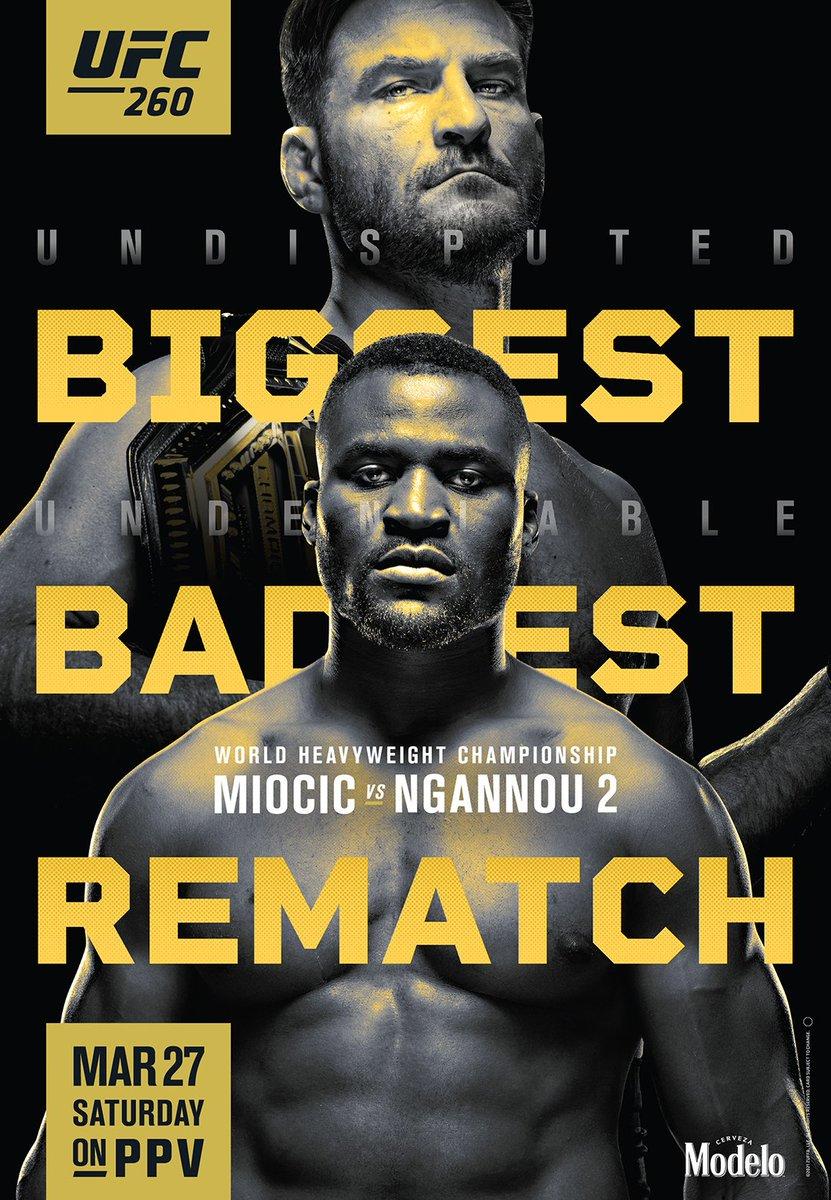 دانلود رویداد یو اف سی 260 |  UFC 260: Miocic vs. Ngannou 2