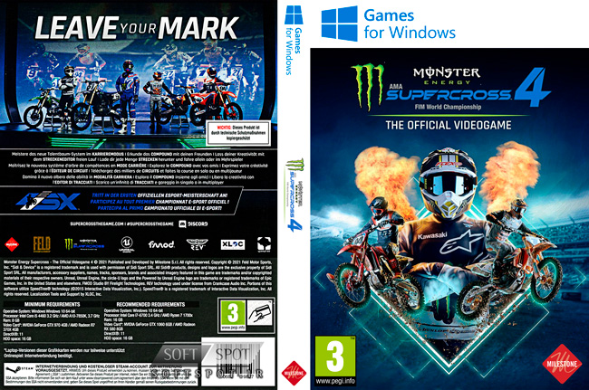Monster Energy Supercross The Official Videogame 4 Cover