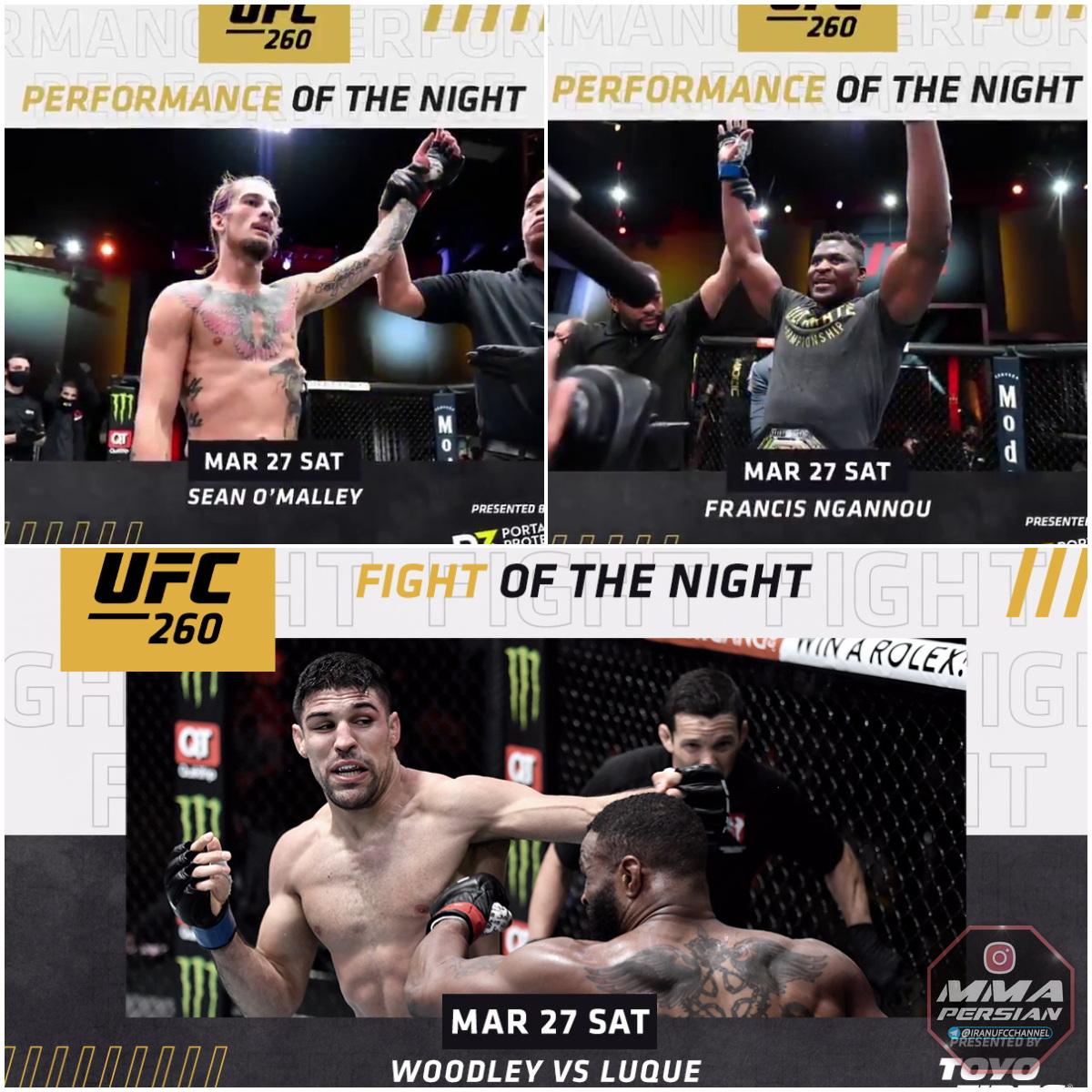 نتایج رویداد : UFC 260: Miocic vs. Ngannou 2